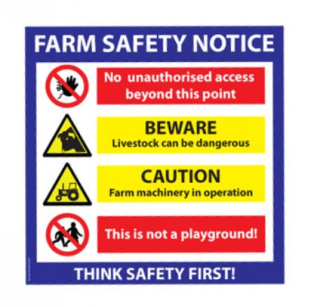 Farm Safety Signs CBM Signs located Letterkenny